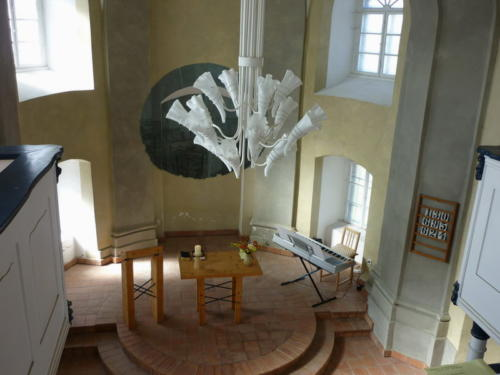 Interiér rumburského kostela